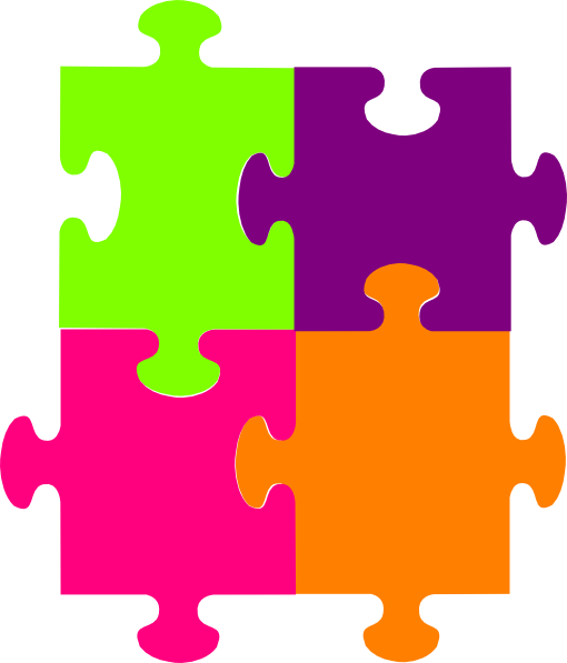 Jigsaw Puzzle 4 Pieces SVG Clip arts 510 x 597 px - PNG Jigsaw Puzzle Pieces