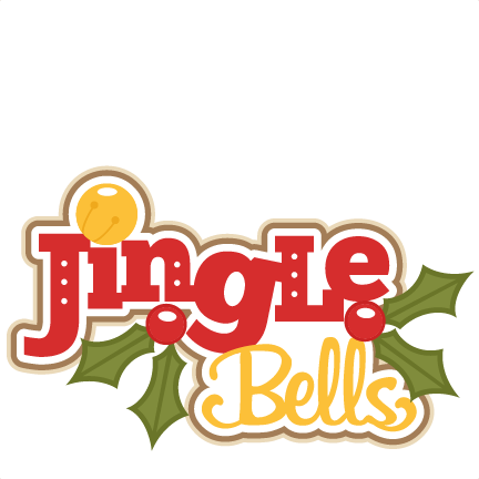 Jingle Bells SVG scrapbook title chtistmas svg cut file christmas svgs cute  cut files for cricut free PlusPng.com  - PNG Jingle Bells