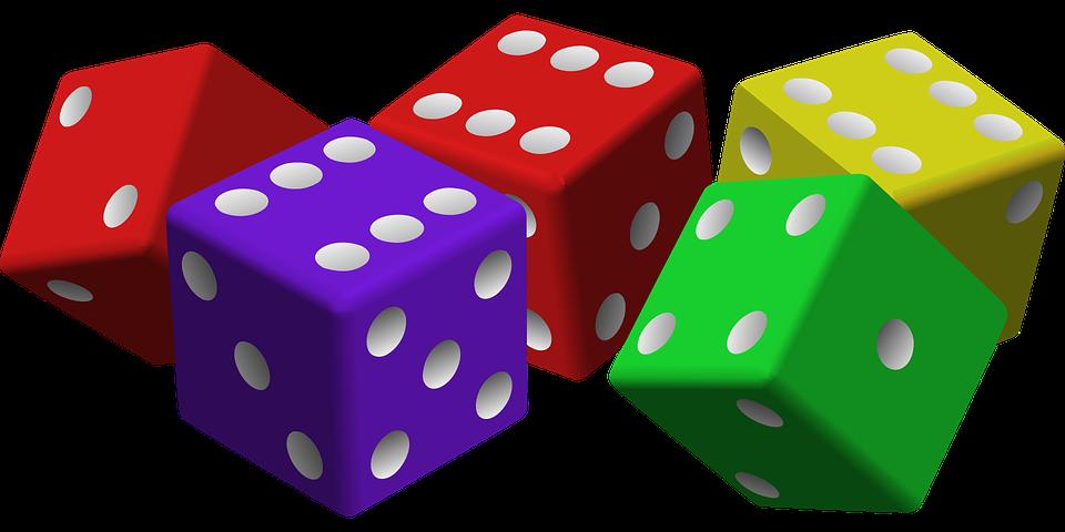 Dados, Juego, Suerte, Juegos De Azar, Cubos, Rojo - PNG Juegos