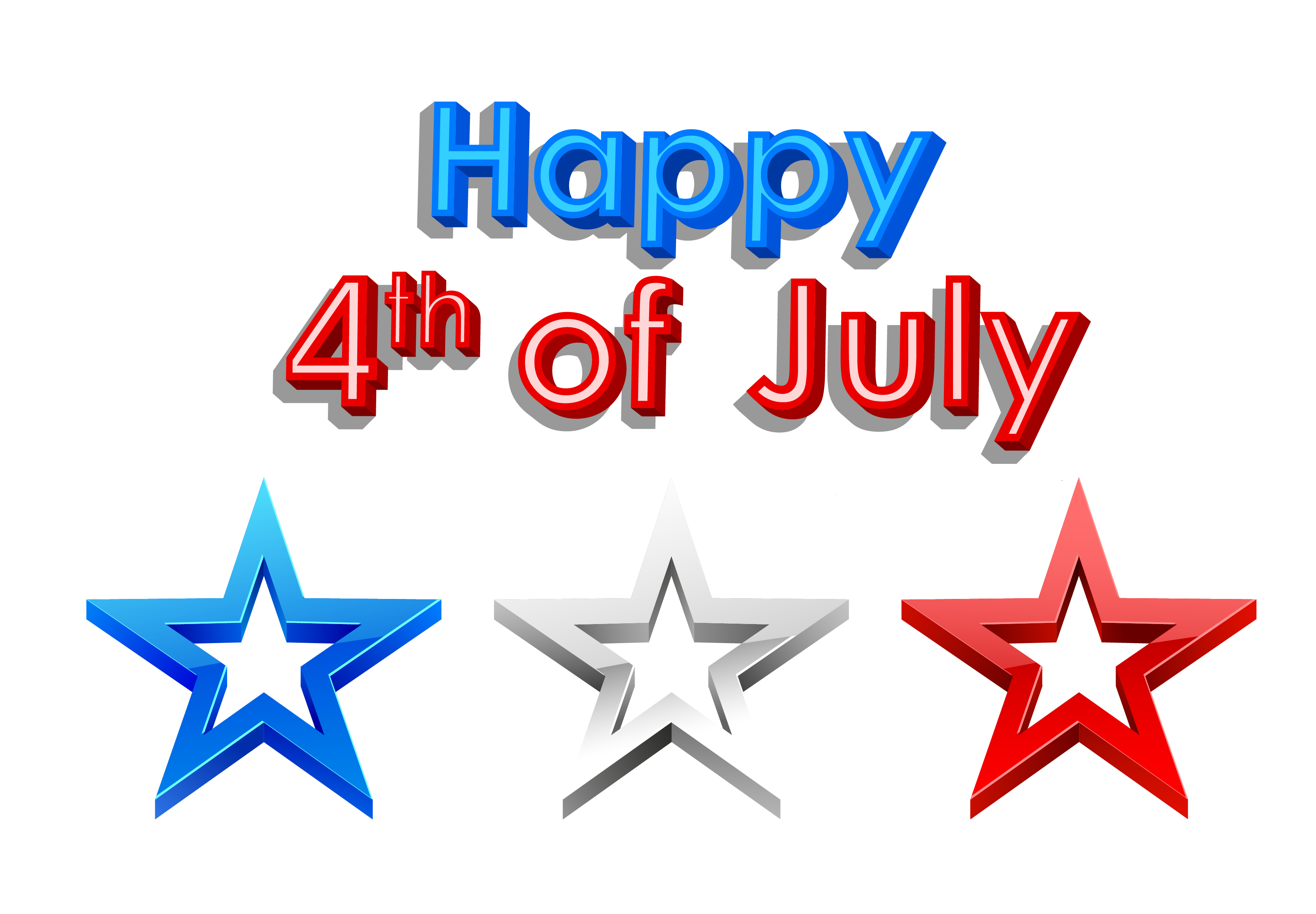 Happy 4th of July PNG Clipart Picture - PNG July