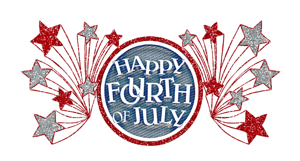 Happy Fourth Of July Glitter Banner - PNG July