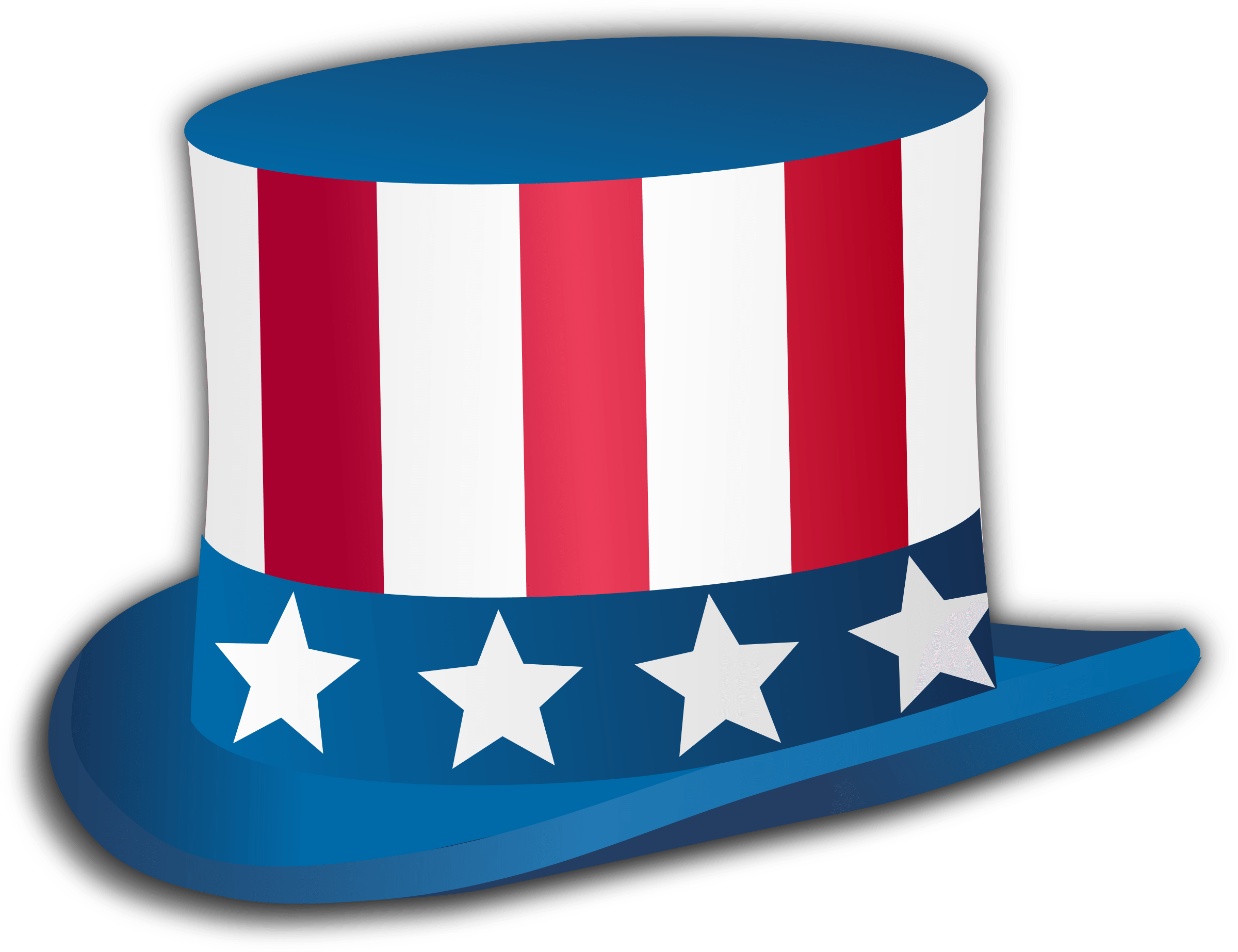 Happy Fourth Of July Top Hat - PNG July
