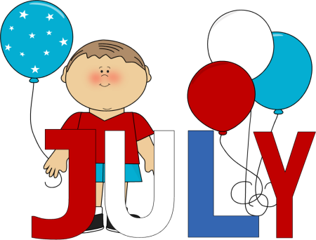 July Calendar Clipart 13 - PNG July