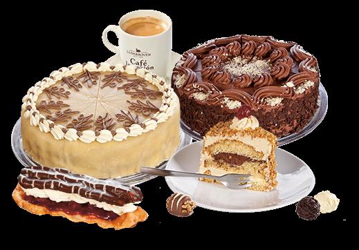 Café und Konditorei bei Waren Müritz - PNG Kaffee Kuchen