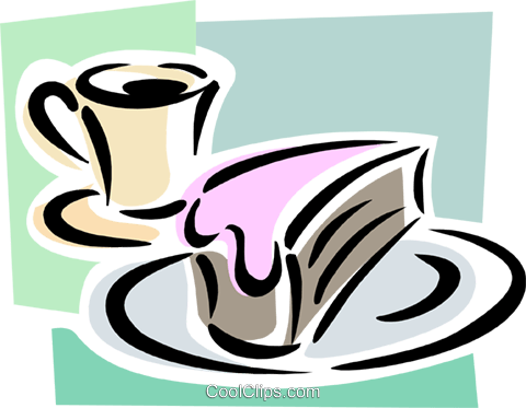 Dessert mit Kaffee Vektor Clipart Bild - PNG Kaffee Kuchen
