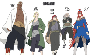 Five Kage Summit.png - PNG Kage