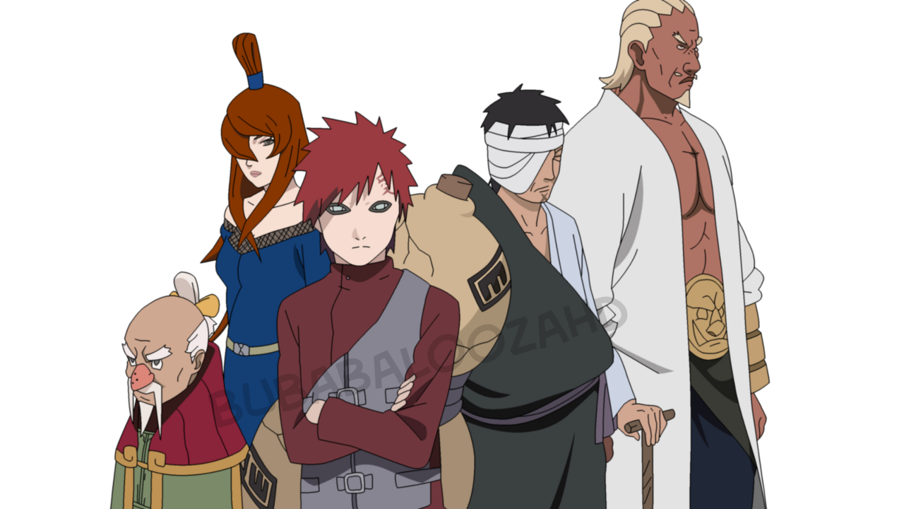 . PlusPng.com The Five Kage Lineart COLOR by bubabaloozahd - PNG Kage
