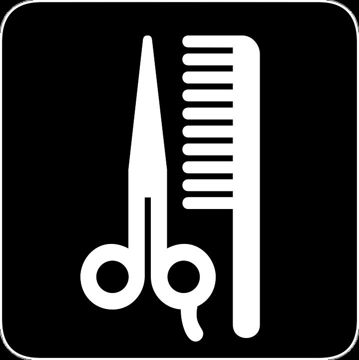 Haar, Schnitt, Kamm, Schere, Salon, Barbershop - PNG Kamm Und Schere