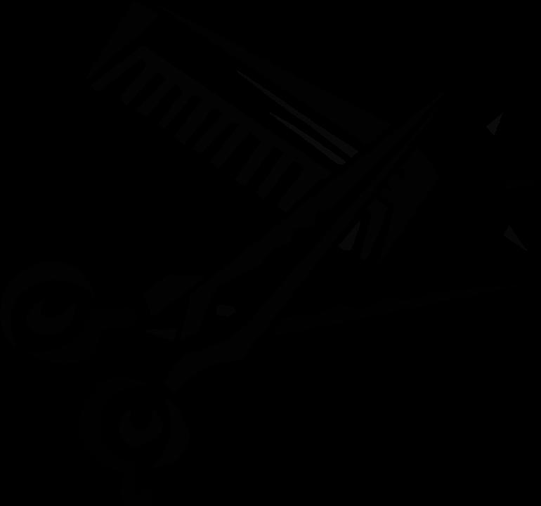 Schere, Kamm, Werkzeug, Friseur, Haarschnitt - PNG Kamm Und Schere