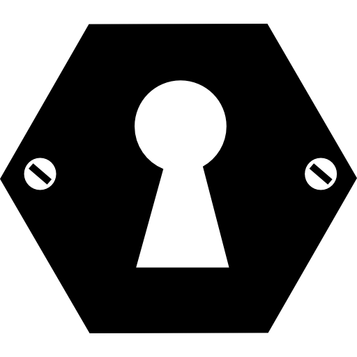 Hexagonal keyhole shape free icon - PNG Key Shape
