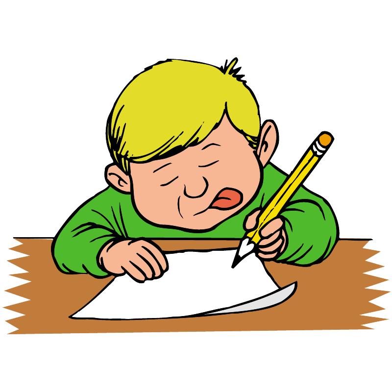 PNG Kid Writing - 43047