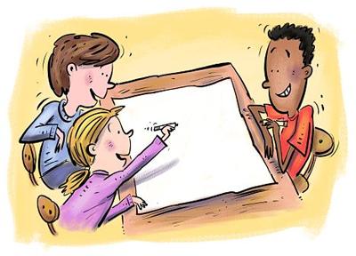 PNG Kid Writing - 43051