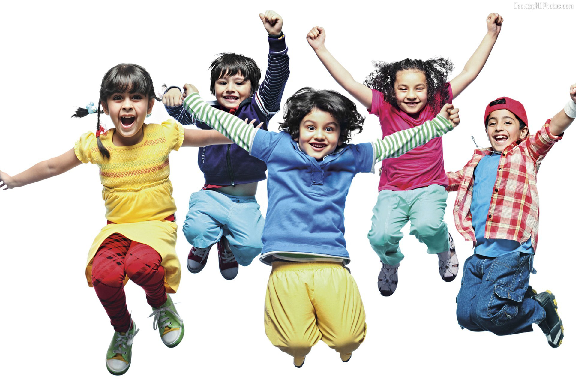 Happy Little Kids Jumping And Dancing Image - PNG Kids Dancing