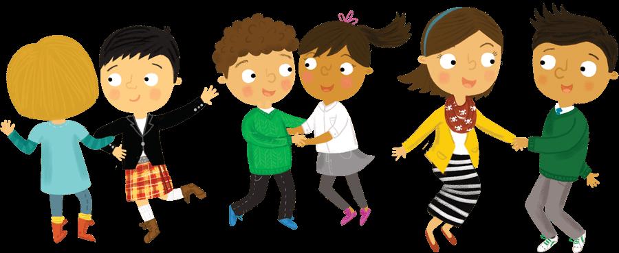 Illustration: Children dancing - PNG Kids Dancing