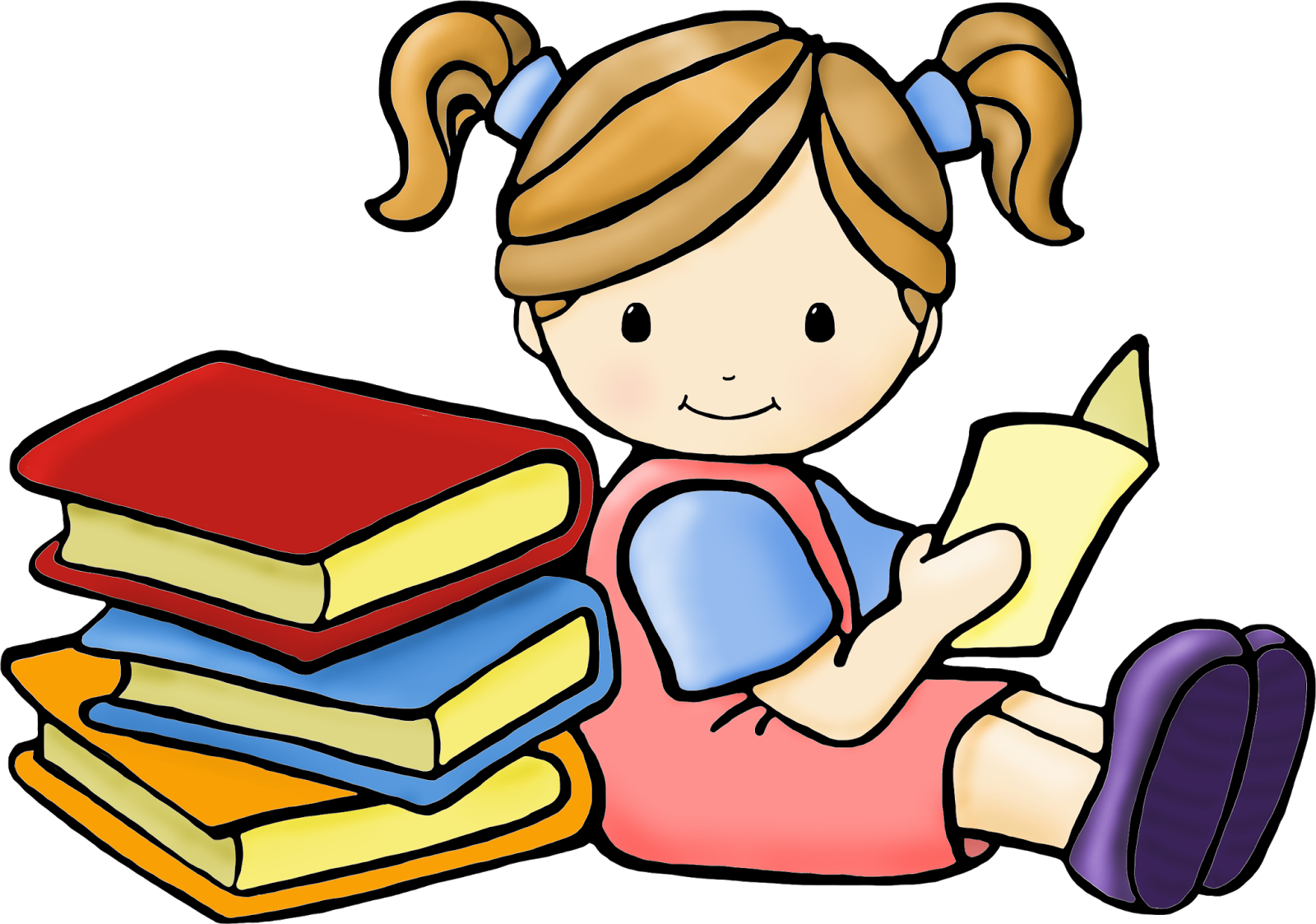 Free Clip art of Kids Reading Clipart #4760 Best Kids Reading - PNG Kids Reading