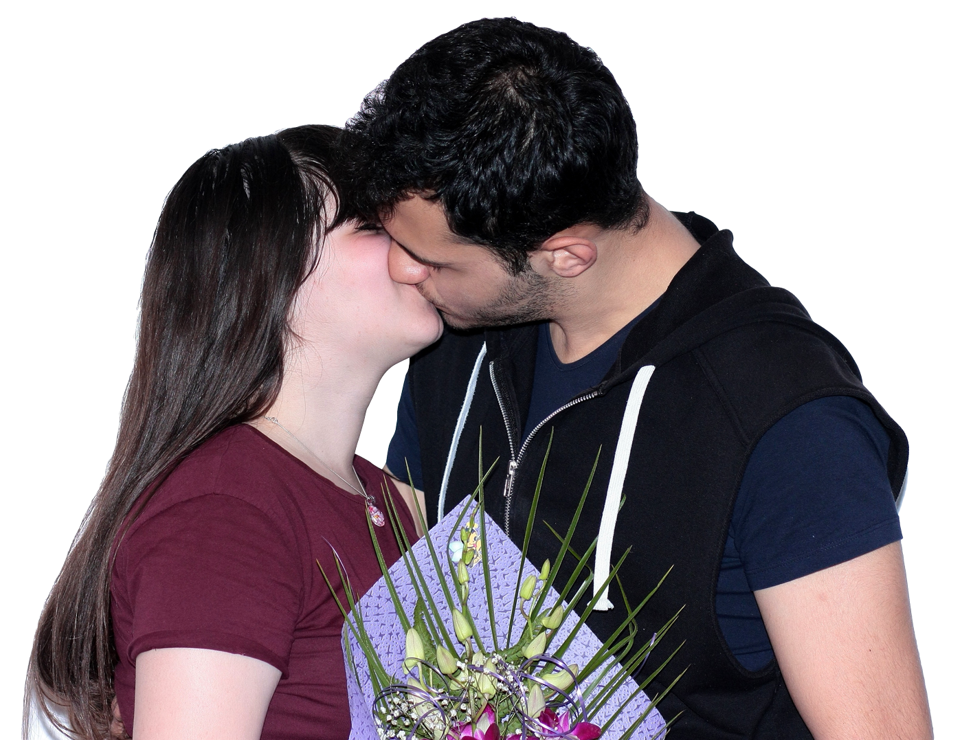 PNG Kissing Couple - 44550