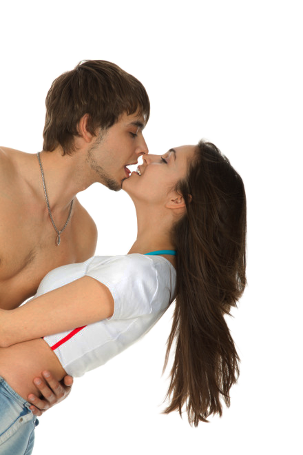 PNG Kissing Couple - 44543