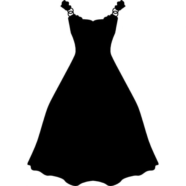 Kleid lang und schwarz Form - PNG Kleid