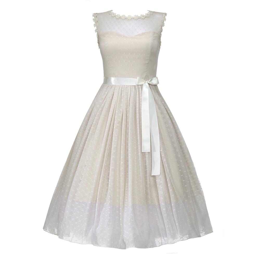 Lindy Bop Kleid Aphrodite Champagne beige - PNG Kleid