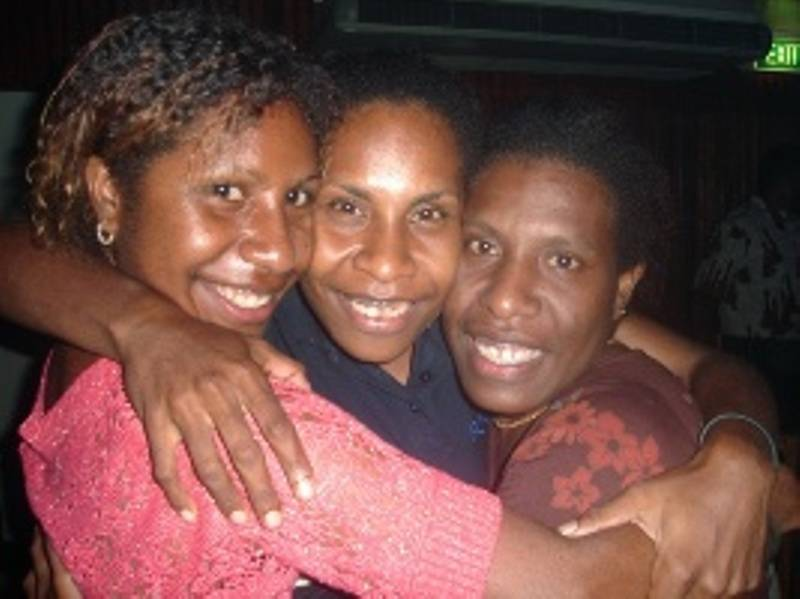 Third, second and first born (left to right) - PNG Kok