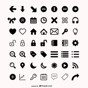 Assorted icons set - PNG Kostenlos