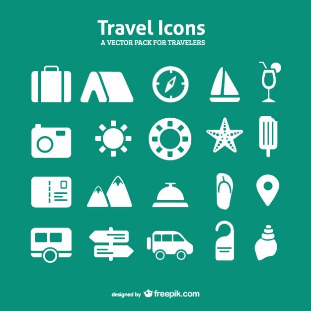 Reise-Icon-Set Vektor Pack - PNG Kostenlos