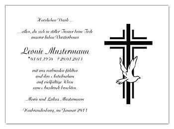 Danksagungskarten: Kreuz. Danksagungen Trauer - PNG Kreuz Trauer