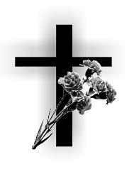 Die Mitglieder des DRK Ortsvereins trauern um Ottilie (Ottti) Schol. Otti  verstarb plötzlich und unerwartet am 27. Juni im Alter von 80 Jahren. - PNG Kreuz Trauer