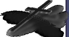 Kreuz mit Wedel - PNG Kreuz Trauer