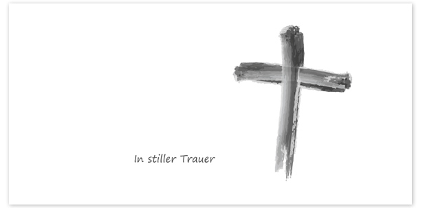 Trauerkarten Motiv gemaltes Kreuz 018 SY - PNG Kreuz Trauer