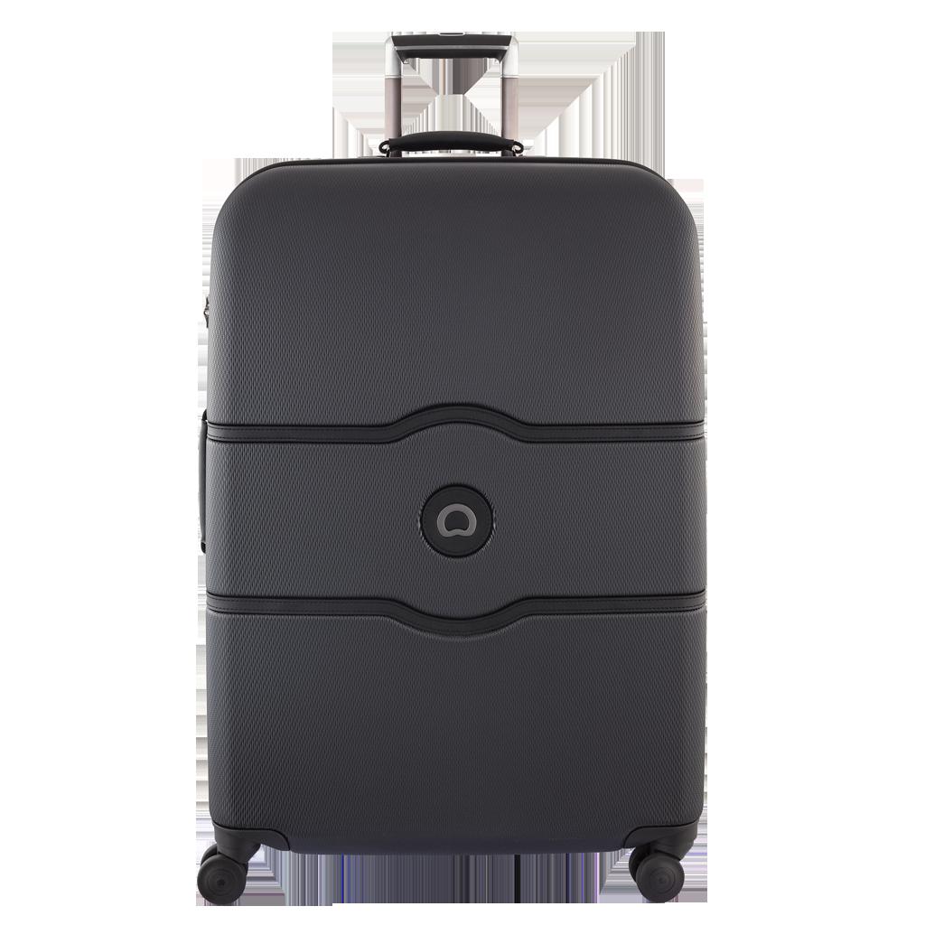 Delsey Chatelet Hard  77 cm kuffert sort - PNG Kuffert