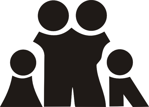 Family Black Cliparts #2721773 - PNG Large Family