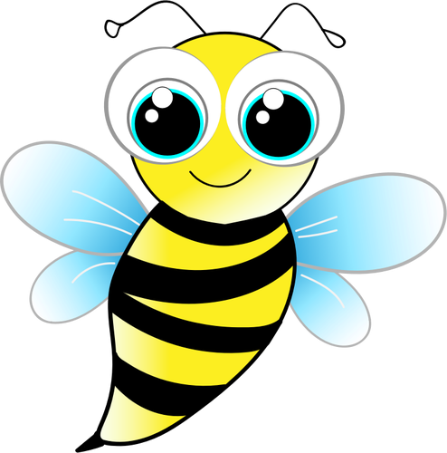 Bee with big eyes - PNG Lebah