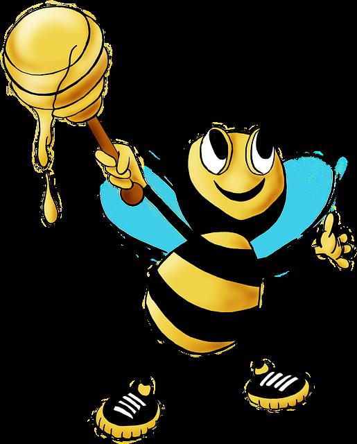 Ilustrasi gratis: Lebah Madu, Lebah, Madu, Hewan - Gambar gratis di Pixabay  - 469560 - PNG Lebah