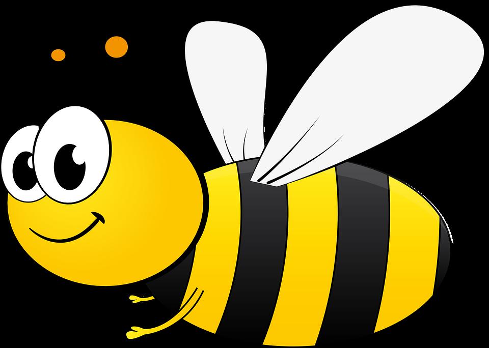 Lebah, Bi, Kartun, Madu, Serangga, Menyerbuki, Sting - PNG Lebah