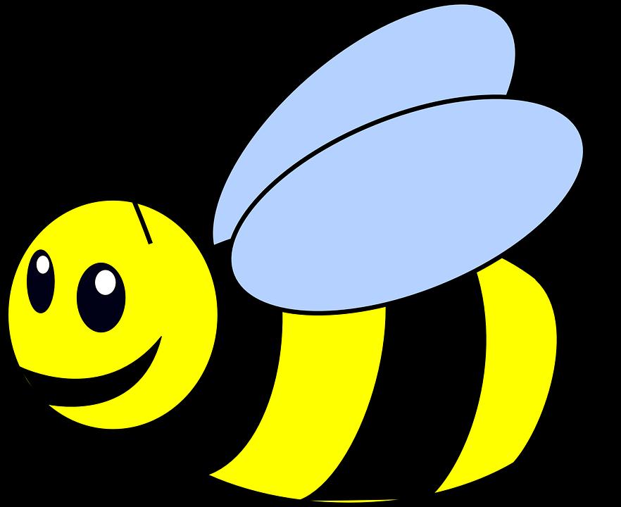 Lebah, Sting, Lebah Madu, Sayap, Serangga, Garis Garis - PNG Lebah