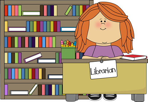 Girl Classroom Librarian Clip Art - PNG Librarian