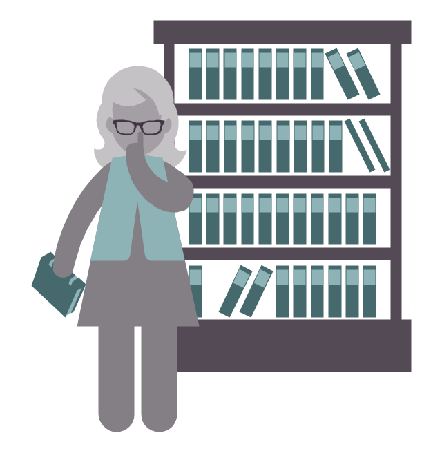 Librarian, Librarian, Profession Icon, - PNG Librarian