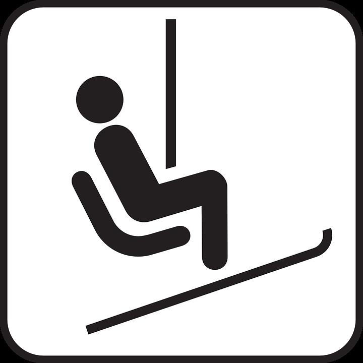Ski Lift, Lift, Ski-Lift, Skiing, Symbol, Sign, Icon - PNG Lift