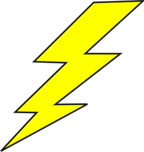 Lightning Bolt Clip Art - PNG Lighting Bolt