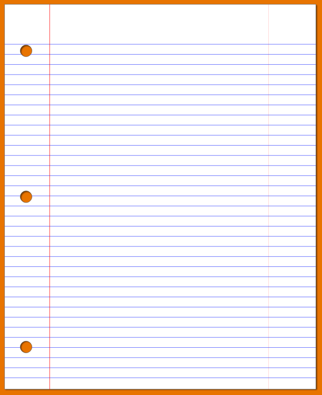 PNG Lined Paper - 88783