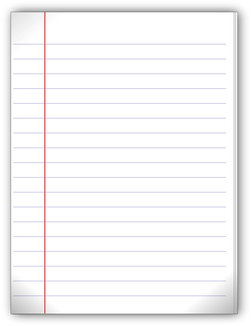PNG Lined Paper - 88774