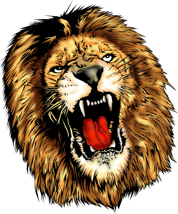 PNG Lion Head Roaring - 61516