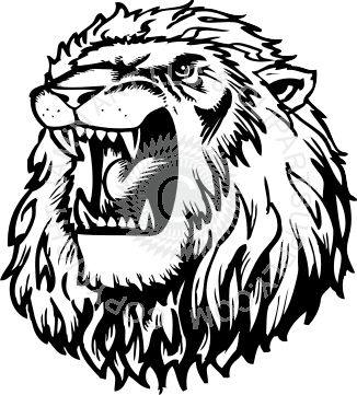 PNG Lion Head Roaring - 61521