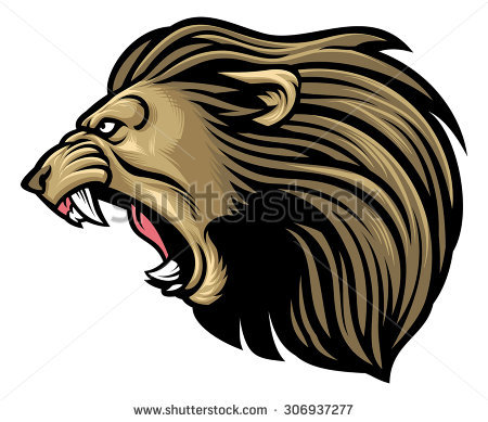 PNG Lion Head Roaring - 61530