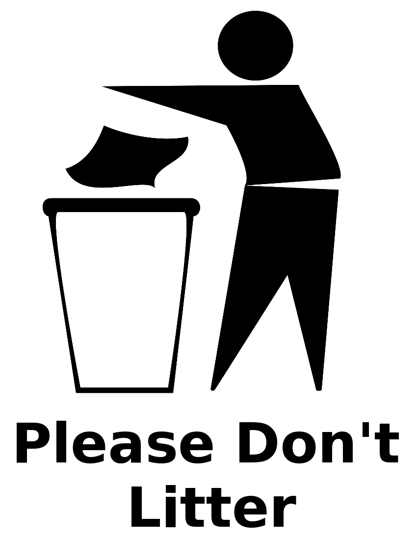trash bin sign - /signs_symbol/ecology/recycle/litter/trash_bin_sign.png .html - PNG Litter