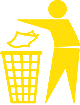 trashcan dont pollute yellow - PNG Litter