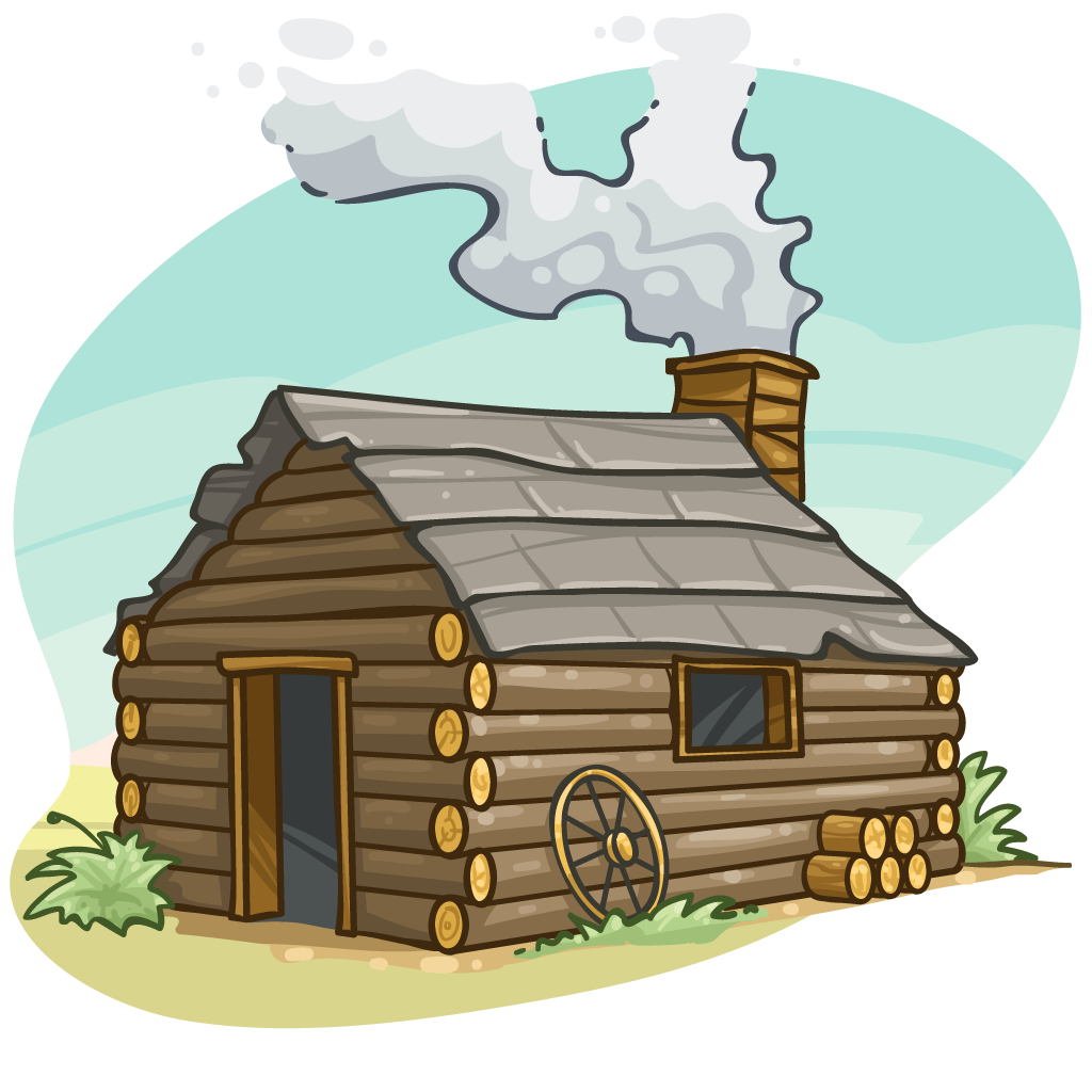The First Thanksgiving Log Cabin