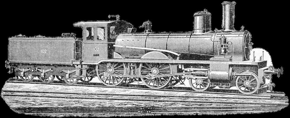 Alte, Jahrgang, Zug, Lokomotive, Antik, Vintage-Design - PNG Lokomotive