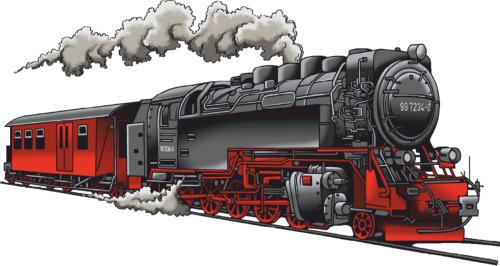 Langarm-Shirt mit Schmalspurbahn Eisenbahn - auch mit Name - PNG Lokomotive